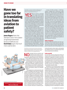 Have we gone too far in translating ideas from aviation to patient