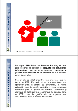( ) Las siglas ERP (Enterprise Resource Planning) se usan para