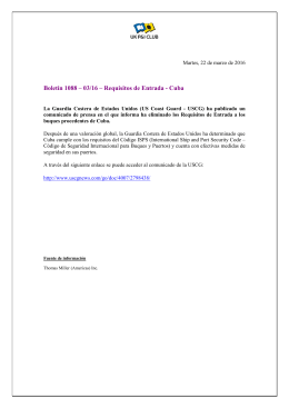 Boletín 1088 – 03/16 – Requisitos de Entrada