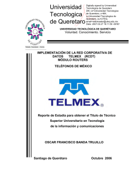 implementacion de la red corporativa de datos telmex (rcdt)