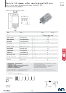 Ignitor for high pressure sodium vapour and metal halide lamps