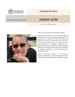 JAINER LEÓN - Pontificia Universidad Javeriana