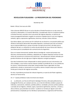 la proscripcion del peronismo