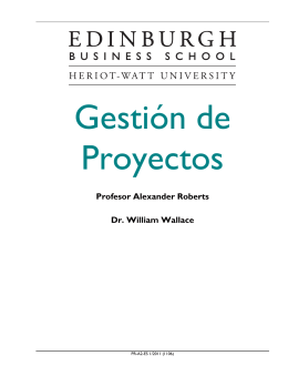 Gestión de Proyectos - Edinburgh Business School