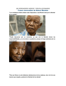 Frases memorables de Nelson Mandela