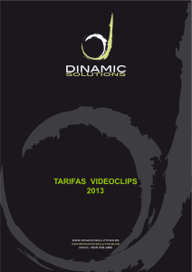 tarifas videoclips - Dinamic Solutions