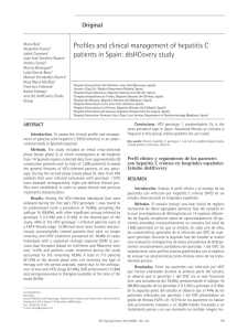 Profiles and clinical management of hepatitis C patients in