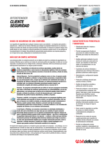 Bitdefender Client Security Datasheet