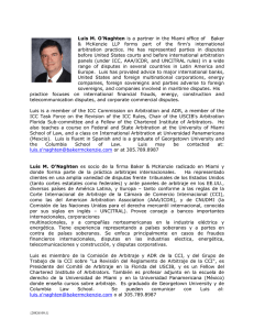 Luis M. O`Naghten is a partner in the Miami office of Baker