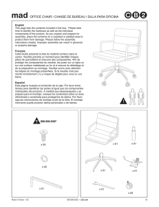 mad office chair ML Assembly Instructions from cb2