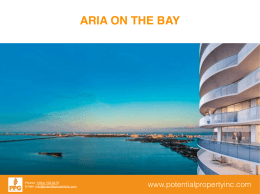 PRESENTACION ARIA ON THE BAY