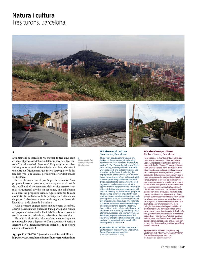 Natura I Cultura Tres Turons Barcelona