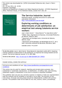 Exploring working conditions as determinants of job satisfaction: an
