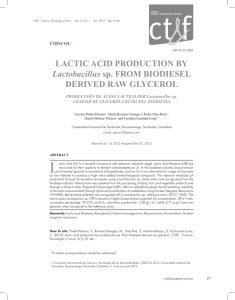 LACTIC ACID PRODUCTION BY Lactobacillus sp. FROM