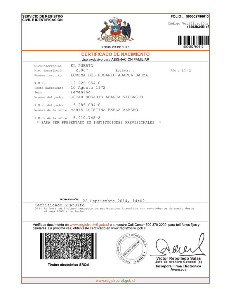 Famoso Certificados De Nacimiento Pa Colección - Cómo conseguir mi ...