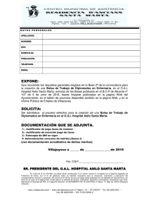 EXPONE: SOLICITA: DOCUMENTACIÓN QUE SE ADJUNTA.