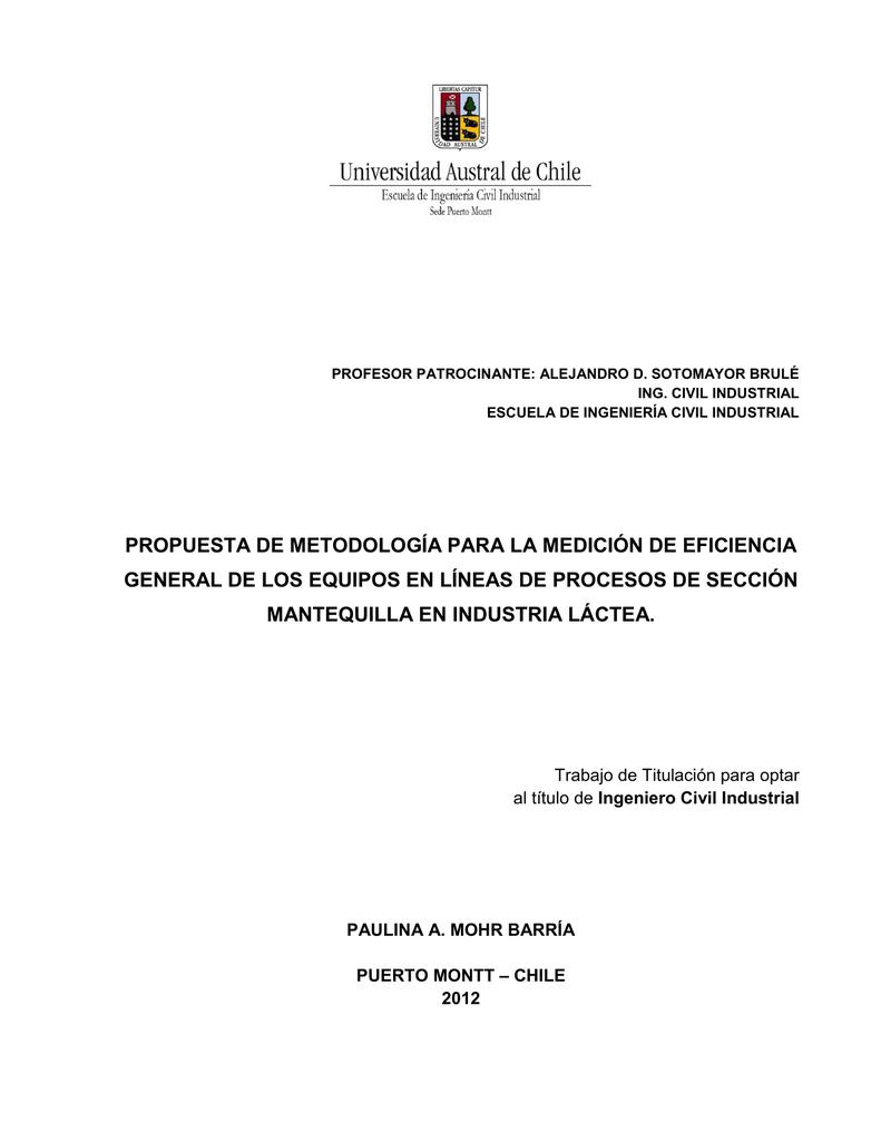 propuesta de metodología para la medición de eficiencia
