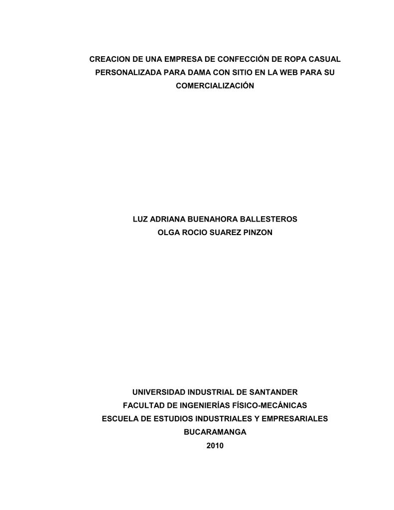 creacion de una empresa de confección de ropa casual 87d2a92b563ce