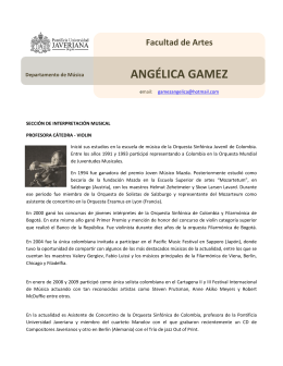 ANGÉLICA GAMEZ - Pontificia Universidad Javeriana