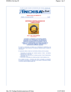 INDISA On line No.85