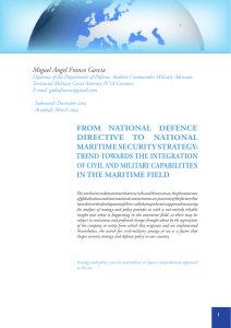 from national defence directive to national maritime security strategy