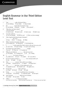 English Grammar in Use Third Edition Level Test