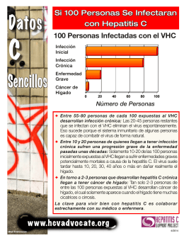 Si 100 Personas Se Infectaran con Hepatitis C
