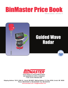 BinMaster Price Book