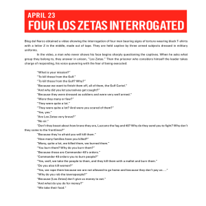 four los zetas interrogated
