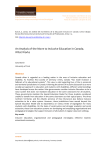 An Analysis of the Move to Inclusive Education in Canada. What Works