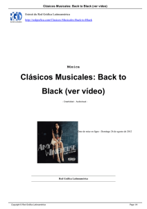 Clásicos Musicales: Back to Black (ver vídeo)