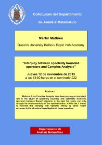 Martin Mathieu (Queen`s University Belfast / Royal Irish Academy)