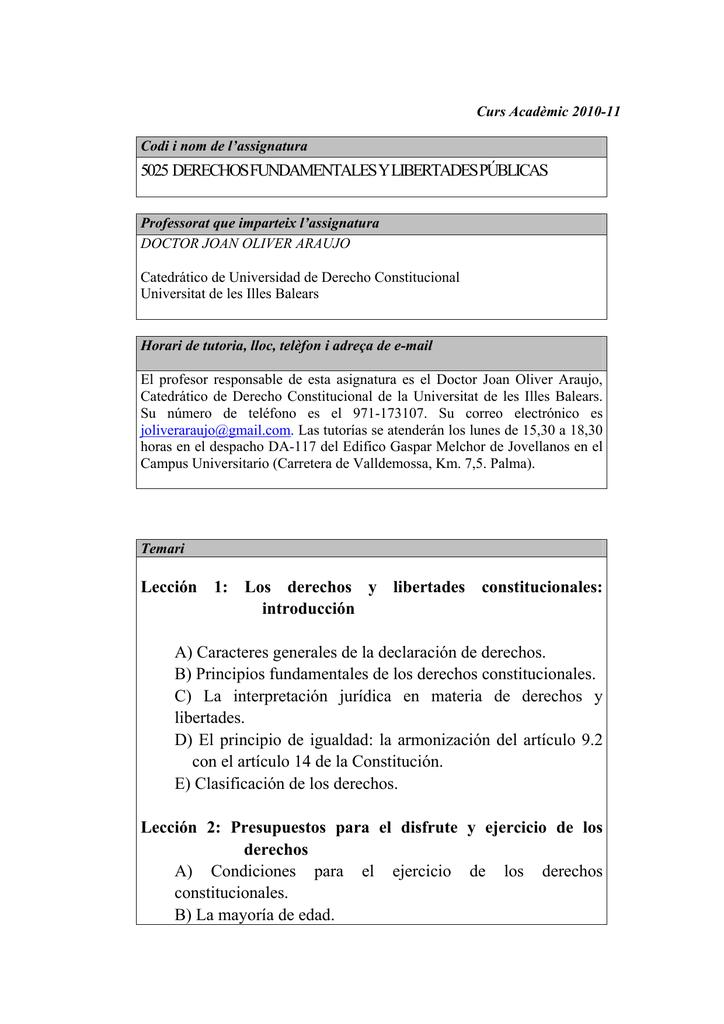 5025 DERECHOS FUNDAMENTALES Y LIBERTADES PÚBLICAS
