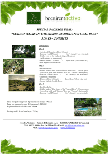 "SPECIAL PACKAGE DEAL: ""GUIDED WALKS IN"
