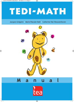 TEDI-MATH - TEA Ediciones
