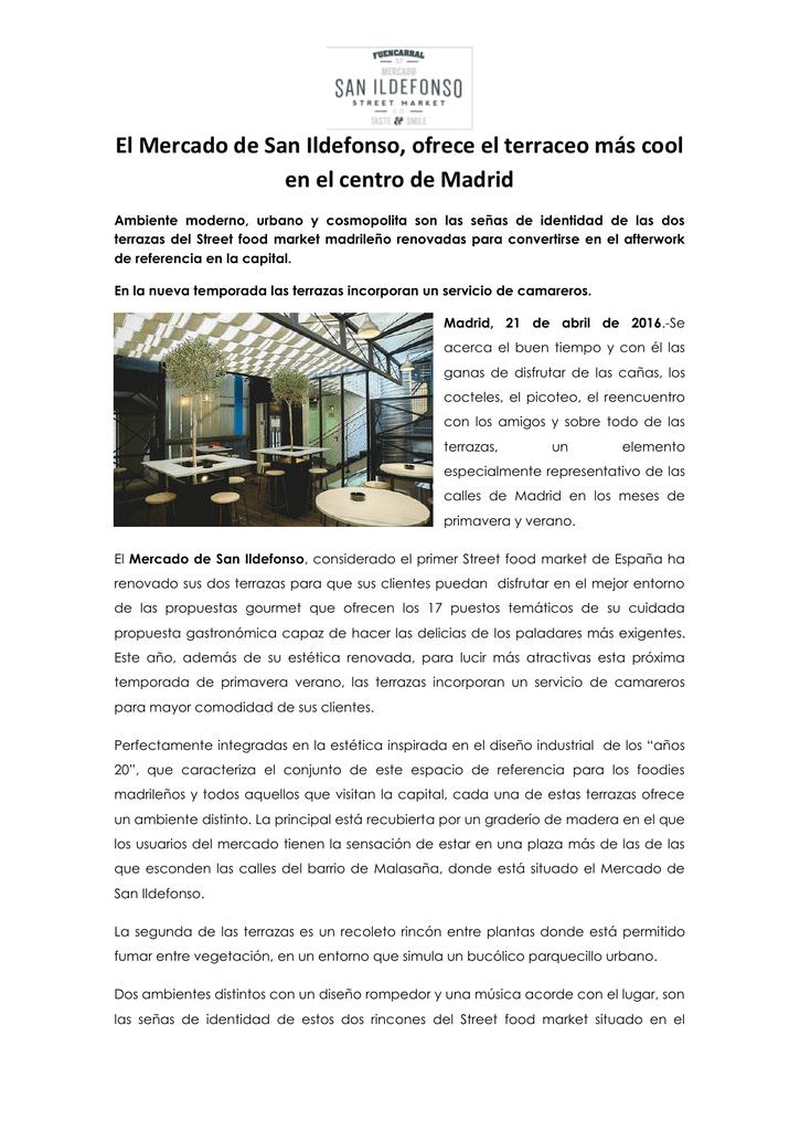 Las Terrazas Del Mercado De San Ildefonso