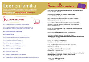 Folleto Seleccion bibliografica y Webs