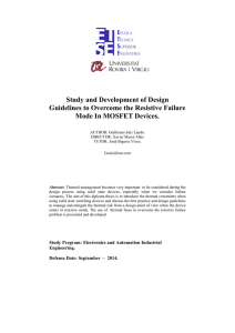Study and Development of Design Guidelines to Overcome