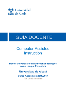 Computer-Assisted Instruction