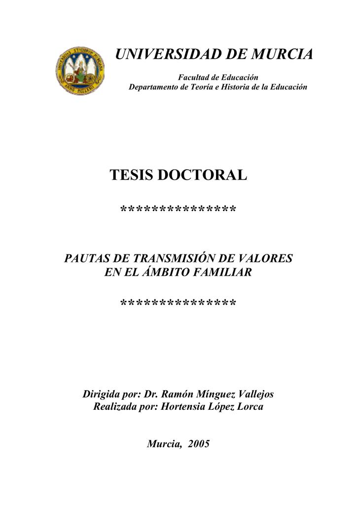 tesis doctoral *************** *************** universidad de