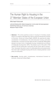 Articles - The European Observatory on Homelessness