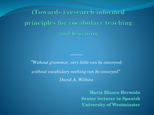 research-informed principles for vocabulary teaching and - ele-uk