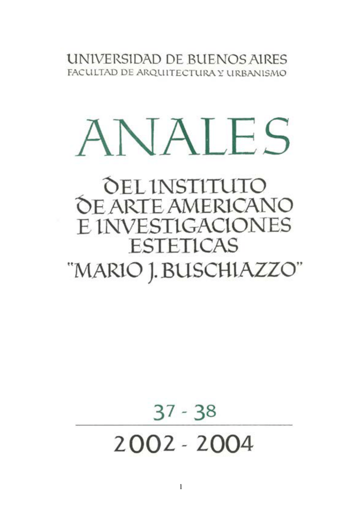Anales del Instituto de Arte Americano N° 37-38