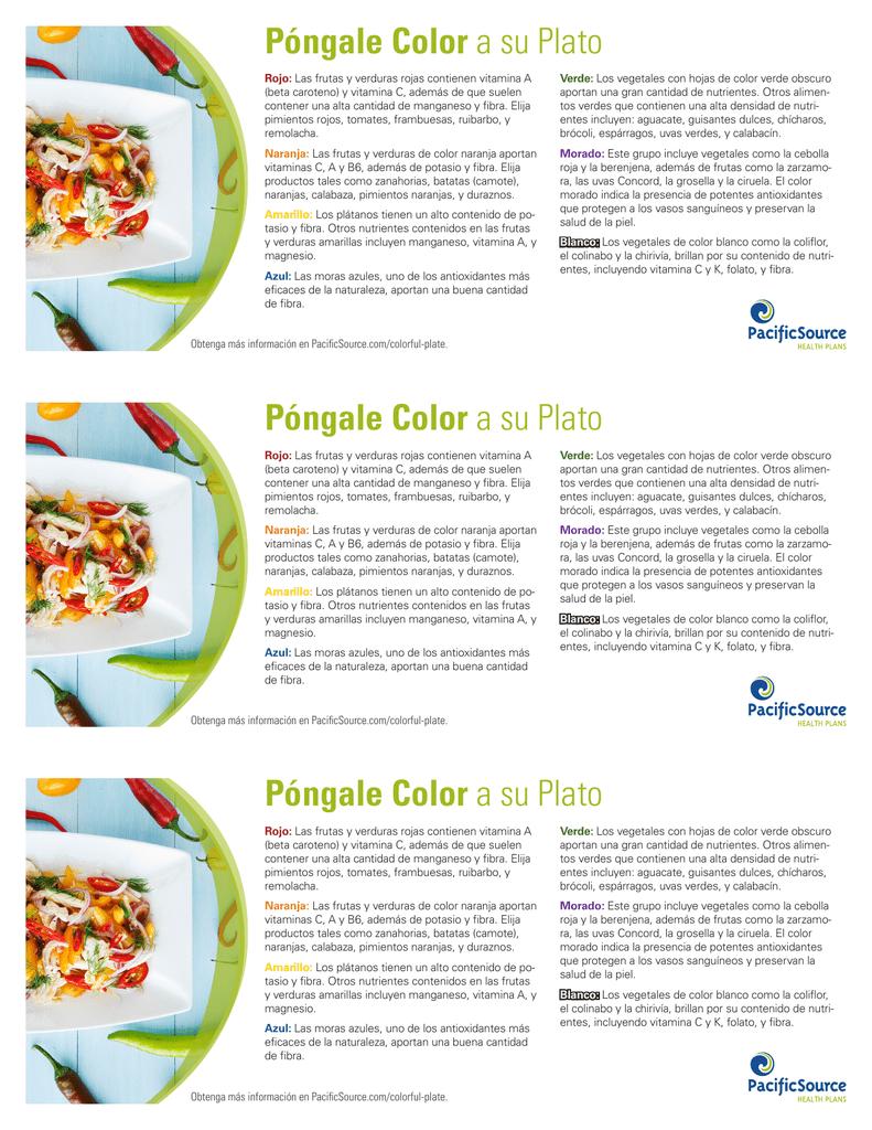 frutas y verduras con caroteno