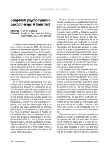 Long-term psychodynamic psychotherapy. A basic text