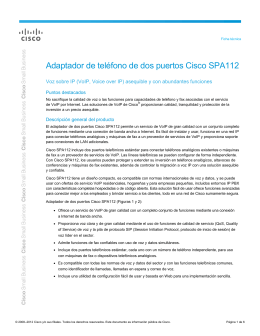 Cisco SPA112 2 Port Phone Adapter Data Sheet (LATAM Spanish)