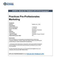 Practicas Pre-Profesionales Marketing