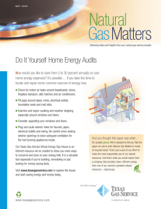 GasMatters Natural - Texas Gas Service