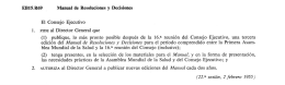 EB15.R69 Manual de Resoluciones y Decisiones El Consejo