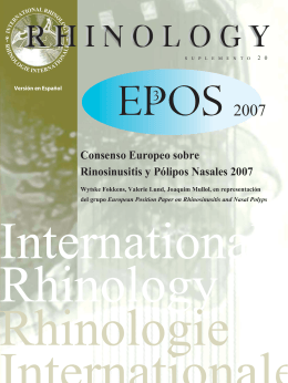Consenso Europeo - European Position Paper on Rhinosinusitis